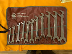 Matco Tools 11pc 1 4 To 7 8 Sae Wc Chrome Combination Wrench Set Swc11k Mint