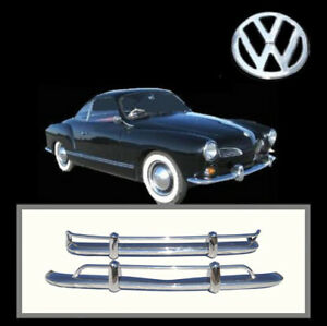 Brand New Vw Karmann Ghia 1956 1971 Us Export Style Stainless Steel Bumpers
