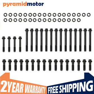 New Set Cylinder Head Bolts For Small Block Chevrolet Sbc Hex Head 350 383 400