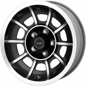 4 15x8 5 Anthracite Wheel American Racing Vintage Vector Se Blank 6