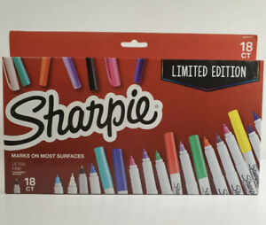 Sharpie Ultra fine Tip Permanent Marker Assorted Colors 18 Ct School Home Office