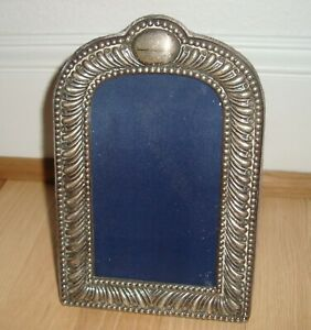 Vintage English Sterling Silver Picture Frame By Jr For 4x6 Photo No Mono