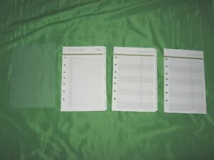Classic Tab Page Accessory Lot Franklin Covey Day One Planner Refill Fill