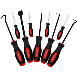 9 Piece Scraper Hook And Pick Tool Set Car Removal Tool O Rings Seals Rubber