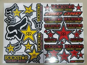 2 Motogp Motocross Sponsor Rockstar Energy Racing Bike Decal Vinyl Sticker