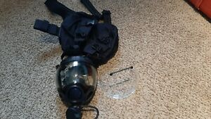 Msa 5479 Gas Mask Size Medium With Carrying Case Protective Visor