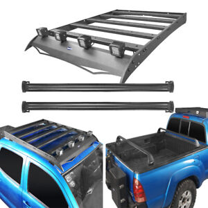 2x Cross Bar Bed Rack Steel Roof Rack Luggage Carrier For Toyota Tacoma 05 21