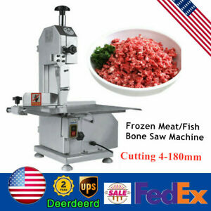 Food Processing Commercial Meat Bone Saw Butcher Bandsaw 650w Cutting 4 180mm