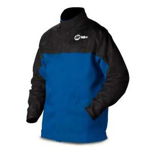 Miller 231082 Combo Leather And Indura Welding Jacket Large