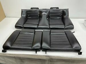 2005 2009 Oem Ford Mustang Coupe Gt Rear Black Leather Back Seats S8471