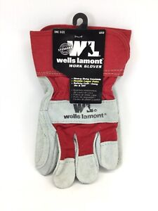 Wells Lamont Leather Work Gloves With Safety Cuff Double Palm