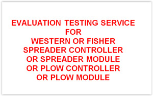 Evaluation Service Report Western Fisher Snow Plow Or Spreader Controller Repair