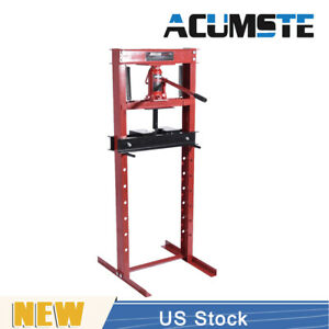 12 Ton Hydraulic Shop Floor Press H Frame 24000 Lb Heavy Duty Steel Us Stock