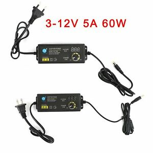 Adjustable Dc Power Supply Adapter Charger Variable Voltage 3 12v 5a 60w