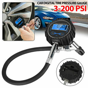 Digital Air Tire Inflator With Pressure Gauge Chuck 0 200 Psi For Truck Car Bike