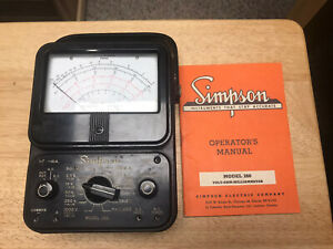 Vintage Simpson Model 260 Multi Tester With Manual