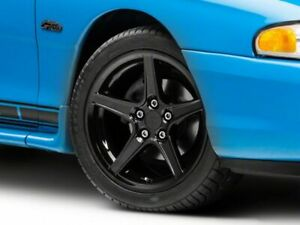 American Muscle Saleen Style Wheel Black 17x9 Fits Ford Mustang 1994 1998
