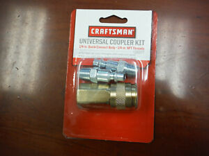 Craftsman Universal Quick Connect Coupler Kit For Air Tools 16377 Brand New