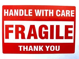 Fragile Stickers 50 2 x3 Handle With Care Packing Packaging Shipping Labels