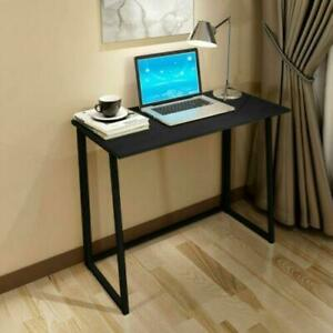 Folding Table Small Foldable Computer Desk Home Office Laptop Table Writing Desk