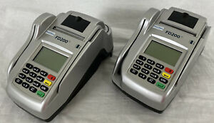 Lot Of 2 a First Data Fd200ti Card Terminal Check Reader no Power Supply