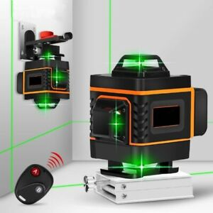 16line 360 Rotary Laser Level Green Beam Auto Self Leveling Measuring Tool Kit