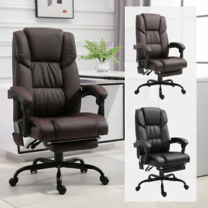 Massaging Office Chair With Reclining Function 5 Wheels And High Back Support