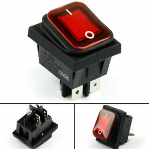 1 Rleil Rl2 102 Waterproof Ip65 Car Rocker Switch 4pin On off 12v 10a Red
