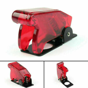 1pcs Toggle Switch Boot Plastic Safety Flip Cover Cap 12mm Clear Red Us