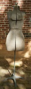 Vintage Acme Size A Adjustable Dress Form Mannequin Metal Stand Great Condition