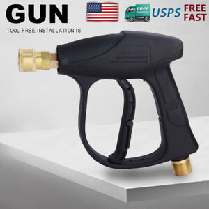 High Pressure Washer Gun For Car Snow Foam Water Spray Power Short Wand 3000psi