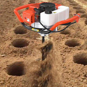 72cc 2 stroke Gas Powered Post Hole Digger Only Machine Auger Borer Fence Motor