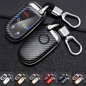 Car Key Case Cover Shell Holder For Jeep Grand Cherokee Dodge Charger Challenger