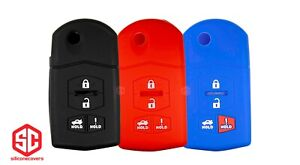 3x New Keyfob Remote Fobik Silicone Cover Fit For Select Mazda Vehicles