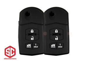 2x New Keyfob Remote Fobik Silicone Cover Fit For Select Mazda Vehicles