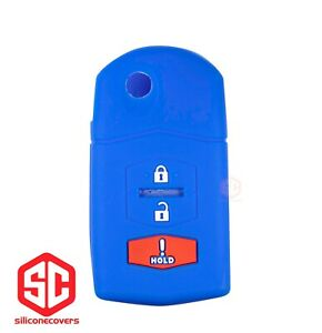 1x New Keyfob Remote Fobik Silicone Cover Fit For Select Mazda Vehicles