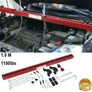 Engine Load Leveler 1100lbs Capacity Support Bar Transmission W Dual Hooks Red