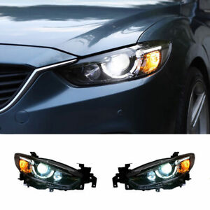 For Mazda 6 Atenza Led Headlights Projector Led Drl Replace Oem Halogen 14 15