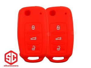 2x New Key Fob Remote Fobik Silicone Cover Fit For Vw