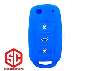 1x New Key Fob Remote Fobik Silicone Cover Fit For Vw