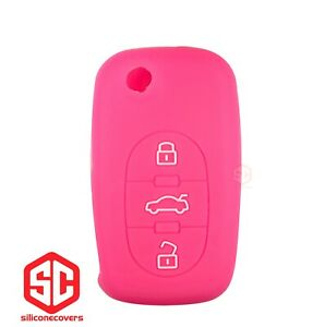 1x New Key Fob Remote Fobik Silicone Cover Fit For Audi