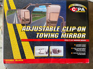 Cipa 11952 Universal Clip on Towing Mirror 4 75 X 7 5 For Cars trucks