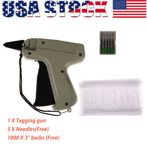 For Clothes Garment Price Label Tagging Tag Gun 3 1000 Barbs System 5 Needles