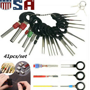 41 X Car Terminal Removal Tool Kit Wiring Connector Pin Release Extractor Puller