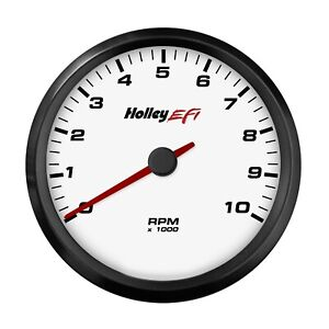 Holley 553 125w Efi Can Tachometer 4 1 2 White Face 0 10k Rpm Range