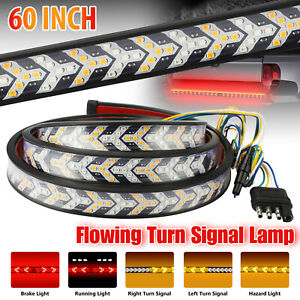 60 Inch 528 led Truck Strip Tailgate Turn Signal Brake Tail Reverse Light Bar