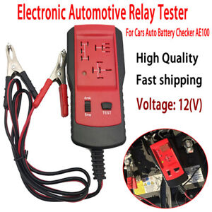 For Cars Auto Battery Checker Ae100 Automotive Electronic Relay Tester 12v Red