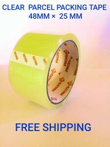 Rolls Of Clear Parcel Packing Sellotape 48 Mm X 25m
