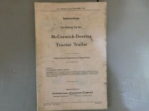 Instruction For Mccormick Deering Tractor Trailer