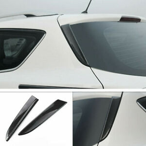 For Ford Escape Kuga 2013 2019 Carbon Fiber Rear Window Side Triangle Cover Trim
